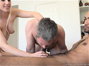 Niki Snow Makes husband gargle thick black fuck-stick
