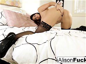 meaty tittie Alison teases