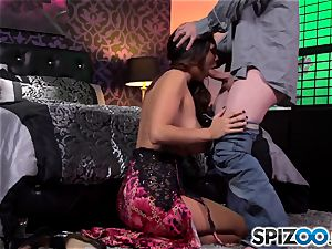 Spizoo-Watch Alison Tyler poking a thick trouser snake hefty mammories
