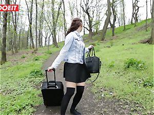 LETSDOEIT - super-hot teenage Gets disciplined For pissing Outside
