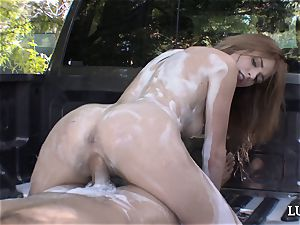 sliding into oiled up brown-haired Blake Eden