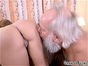 nubile plunged by senior guy