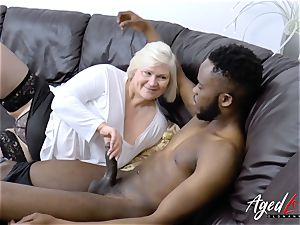 AgedLovE Lacey Starr gets bi-racial xxx