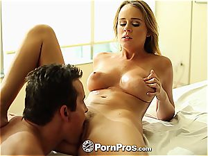 Alexis Adams uses her forms and muff