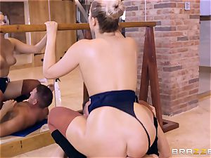 NIkky desire well-lubed up and hammered in the gym