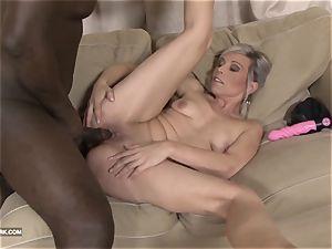 black and white big black cock spunk gulping mega-slut luvs dark-hued rod