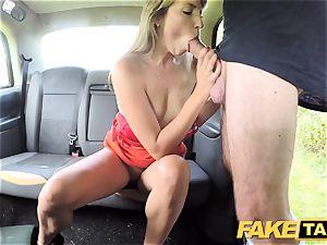 fake cab damsel in brief dress gets a taxi internal ejaculation