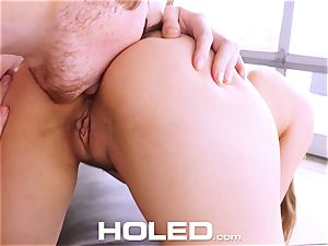 HOLED Lena Paul ass fucking boinked and facial in LA pad