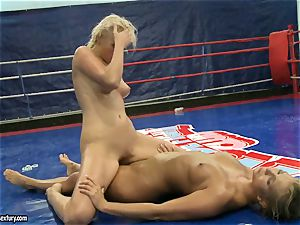 Linda Ray railing on her naked stunning rival