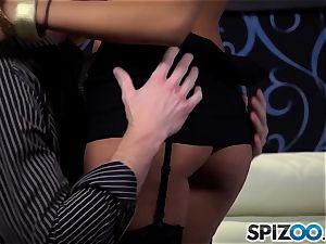penetrating deep the warm black-haired Alina Li