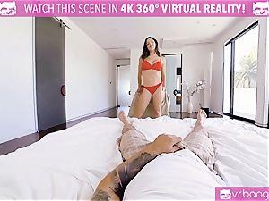 VR pornography - big-titted Abella Danger casting sofa get crazy