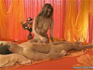 enduring Golden massage milf blond