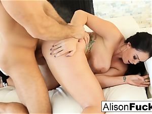 Alison takes on a large man-meat