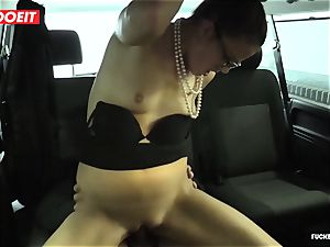 awesome sex In taxi taxi with Czech stunner Samantha Joons