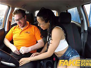 faux Driving college ebony american minx Kira Noir