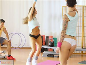 fitness apartments immense trouser snake exercise for babe after class bang-out