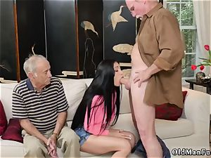 senior blondie grannie and young couples outdoors Dukke the Philanthropist
