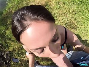 buxomy fisherwoman Anissa Kate gets plumbed in tent
