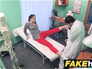 faux clinic doc prescribes gloppy facial cumshot