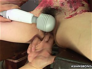 chinese super-bitch luvs to be sadism & masochism handled to a paraffin wax flash