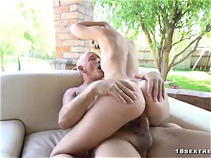marvelous blond drilled Real hard-core