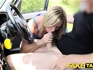 fake cab Mum with natural titties gets hefty brit man meat