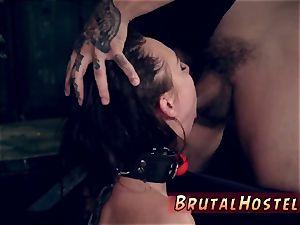 young bondage & discipline and rope pricomrade companion bondage gonzo A yam-sized dirty facial cum-shot