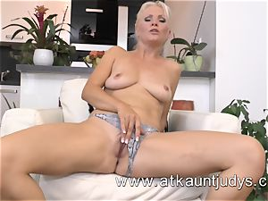 Kathy Anderson glides out of her office attire