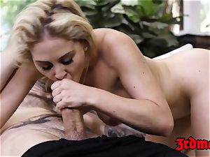 busty ash-blonde mummy Cherie Deville Gets beaten rock-hard