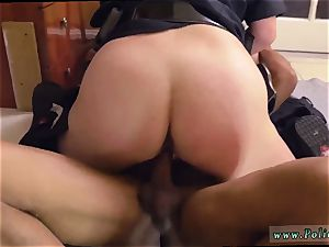 milf cam towheaded taunt dark-hued male squatting in home gets our cougar officers squatting on
