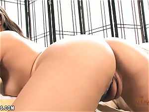 Adrian Maya plows her cunt with a fucktoy