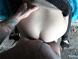 Public Agent Outdoor sex with Russian nubile