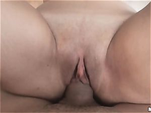 fuck-a-thon pot dark-haired Lily Charms likes to ride meaty hard-on