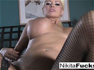 pov romping Nikita Von James with a thick spunk-pump