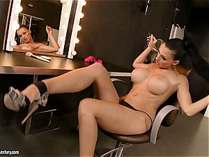 sultry Aletta Ocean couldn't wait to work on her anxious slits for one super-hot climax