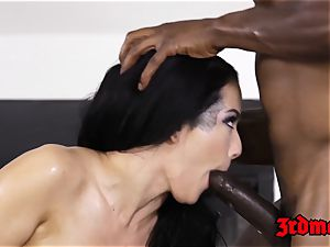 Katrina Jade plowed by big black cock after rubdown