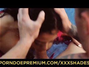 hardcore SHADES buxomy latina honey pounded by the pool