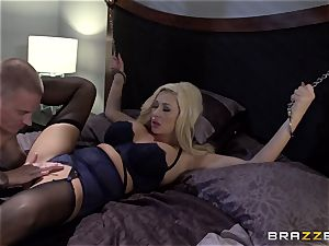 busty blond Summer Brielle smashes her college girl
