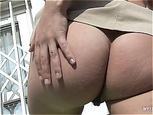 Katrina Kozy plays with her phat orbs