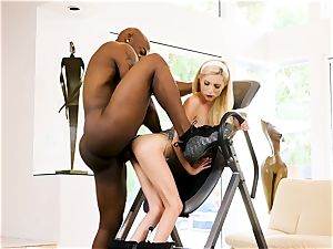 roll table and big black cock joy with Piper Perri