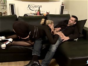 LA COCHONNE - super-fucking-hot assfuck with insatiable French towheaded
