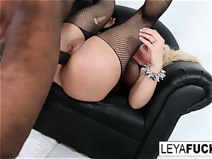 super-steamy ginormous tittie light-haired Leya gets her culo boinked