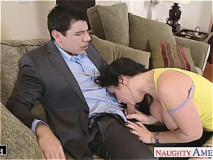 huge-titted Jayden Jaymes gobbled out and humped rock-hard