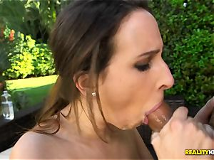 thick congenital titties Ashley Adams thrashed in her steamy puss