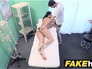 fake medical center manhood hungry oriental French doll