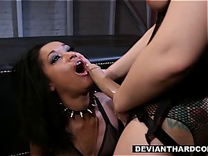girly-girl domination and strap-on activity