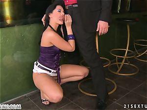 Madison Parker - promiscuous bartender gets porked after work