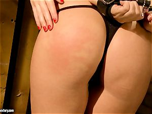 Kathia Nobili horny jail guard torturing a steaming honey